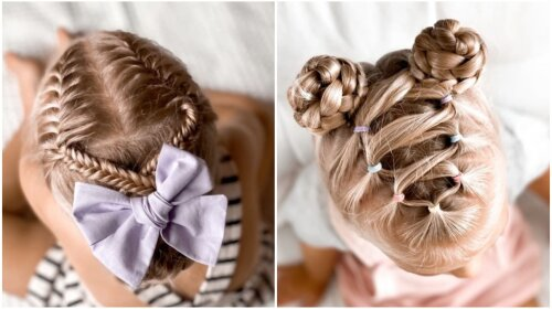 Молода матуся робить своїй маленькій доньці оригінальні зачіски: кожен день заплітає по-новому (відео)