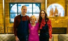 В красном рождественском платье: Кейт Миддлтон и принц Уильям приняли участие телевизионном кулинарном шоу