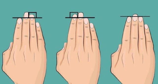 Быстрый тест по длине пальцев