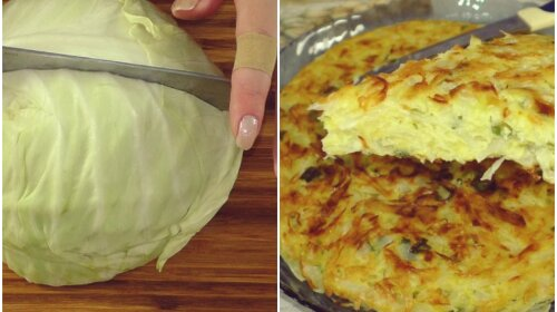 1/4 качана капусти + 2 яйця і через 15 хвилин на твоєму столі смачна страва