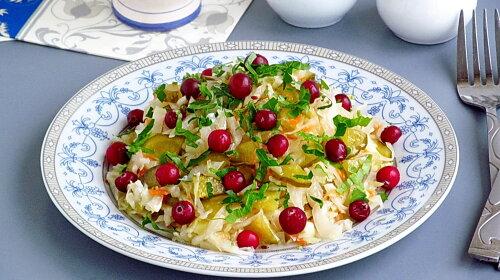 Меню для Великого поста: вкусный постный салат из капусты