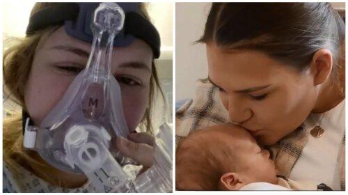 """""""Це диво"""": вагітна жінка народила малюка під час штучної коми через коронавірус (ФОТО)"""