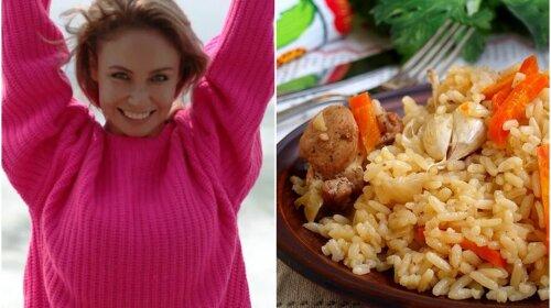 Жена Паши Воли из из Comedy Club Ляйсан Утяшева поделилась рецептом быстрого плова из говядины (видео)