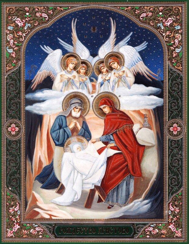 Картинка иконы рождество христово