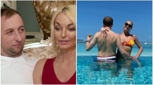 Обычный лысый мужичок: Волочкова впервые показала таинственного возлюбленного целиком: «Олег, в студию…»