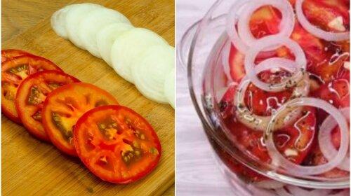 Найкраща закуска до шашлику: просто нарізаєш і заправляєш медом і червоним перцем. Не відірватися!