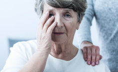 Woman suffering from senility