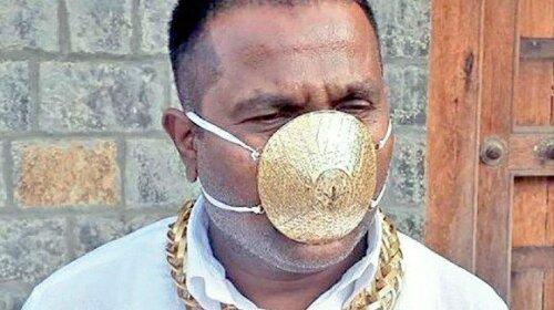 По-багатому: індійський бізнесмен захищається від коронавіруса маскою із золота