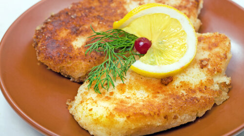 Roasted cutlets of potato