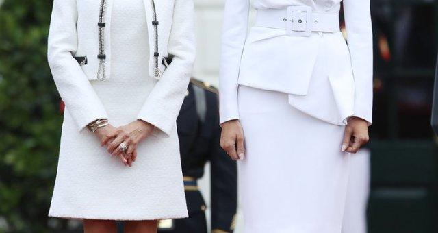 Melania-Trump-White-Hat-Michael-Kors-Suit-2018