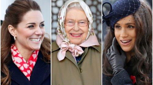 Итоги 2020 года: самые стильные зимние образы от Кейт Миддлтон, королевы Елизаветы II и сбежавшей в Америку Меган Маркл