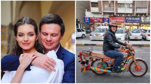 Молодя жена не прочь прокатиться вместе с ним: Комаров на эксклюзивном мотоцикле отправится исследовать Пакистан