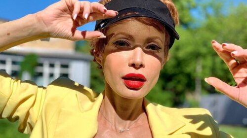 Яскраве плаття і модна стрижка Пікс боб: Олена-Христина Лебідь вразила ефектним перетворенням (фото)