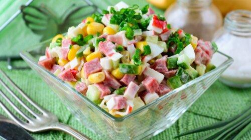 Каждый День рождения я готовлю этот необычный салат с крабовыми палочками -  гости пищат от восторга