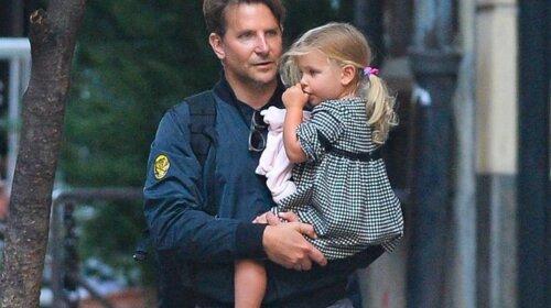 Неначе вкрав дитини: колишній чоловік Ірини Шейк Бредлі Купер з'явився з дочкою Леєю в дуже дивному вигляді (ФОТО)