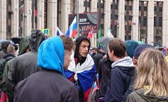 массовые протесты в москве, митинг в москве, дудь, фейс, оксимирон, фото