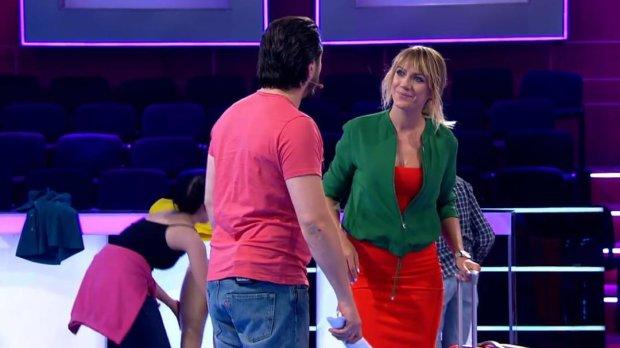 Елена Кравец и Леся Никитюк пришли на шоу «Хто зверху?» в одинаковых нарядах