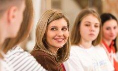 В шелковой блузе и скромном макияже: Елена Зеленская обратилась к украинским спортсменам
