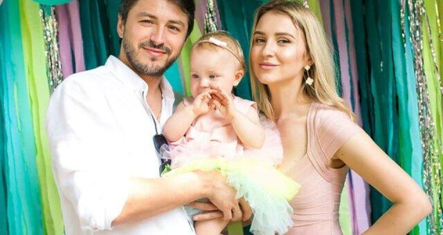 Сергей Притула с женой Катериной и дочерью Соломией
