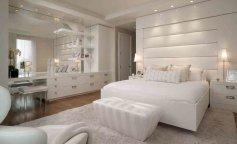спальня, идея для спальни, спальня в белых тонах