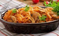 Лучший рецепт тушеной капусты с грибами: просто, быстро и полезно