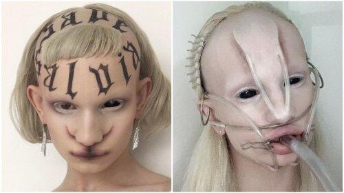 Молодая англичанка пугает Сеть своей инопланетной внешностью: как девушка-фрик выглядит в обычной жизни