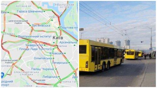 Транспортный коллапс в Киеве: такси по 500 грн и огромные пробки (ФОТО)
