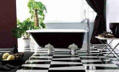 Черно-белая плитка: примеры дизайна