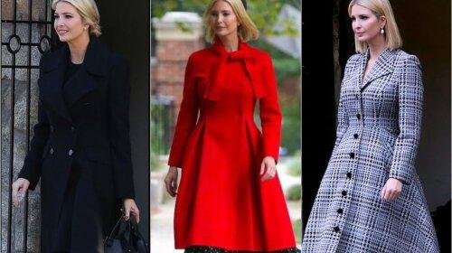 В элегантном черном, красном и сером пальто: Иванка Трамп восхитила новыми весенними образами