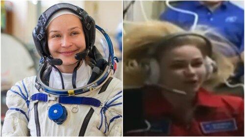 Актриса Юлия Пересильд впервые вышла на связь из космоса: «Мне кажется, что я сплю…» (видео)