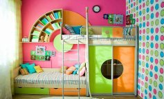 детские комнаты, варианты детских, яркие варианты