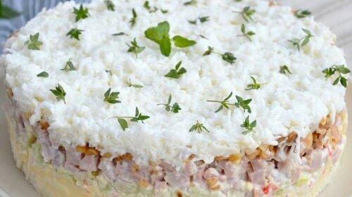 Новогодний салат «Снежная королева» - безумно вкусный и невероятно красивый