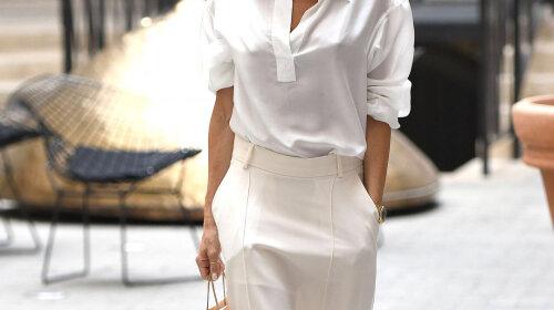 Как одеться в стиле total-white: мастер-класс от Виктории Бекхэм