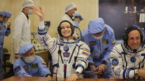 Глаза светились от счастья: как выглядела Юлия Пересильд перед полетом в космос