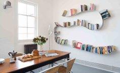 книжные полки, книги, интерьер
