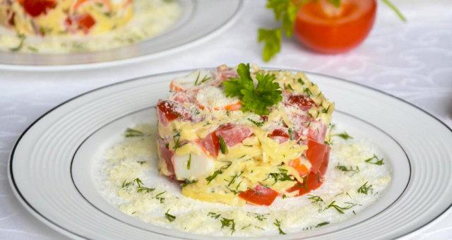 salat-kuritsa-syr-pomidory