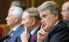 Сеть рассмешило выражение лица Ющенко, наблюдающего за новой Радой (фото и видео)