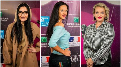 Анна Добрыднева, Ирма Витовская и солистка «НеАнгелов» Виктория  Смеюха засветились на фестивале французского кино