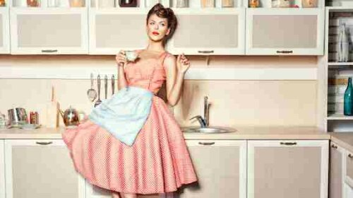 Woman in the kitchen.
