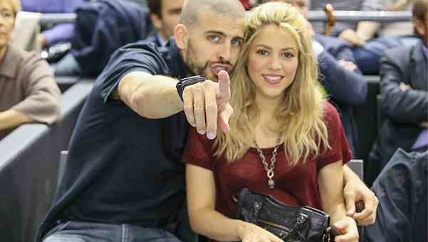 Gerard Pique and Shakira spotted at a basketball match in Barcelona