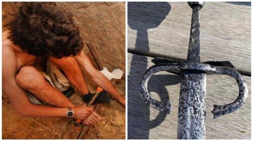 Археологи обнаружили уникальный 500-летний меч под Тернополем: как выглядит артефакт (ФОТО)