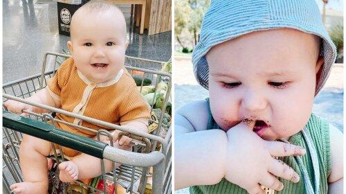 """""""Я не боюсь бактерий"""": мать разрешает 8-месячному малышу лизать тележки в магазине и есть песок (ФОТО, ВИДЕО)"""