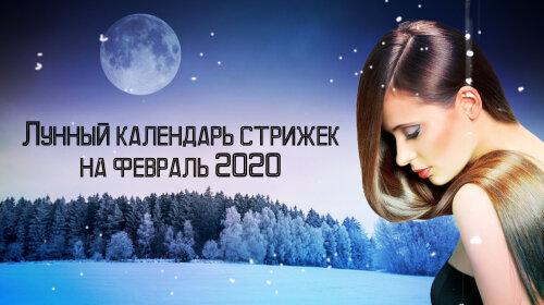 Місячний календар стрижок на лютий 2020