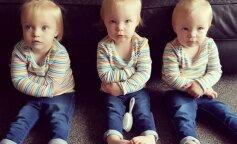 """Пока мама думала, что тройняшки спят, они забавно """"украсили"""" весь дом (ФОТО)"""