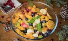 Что приготовить на новый год: зимний фруктовый салат с гранатом и апельсином