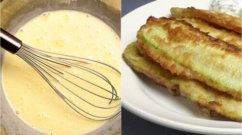 Рецепт на швидку руку: смажені хрусткі палички з кабачків