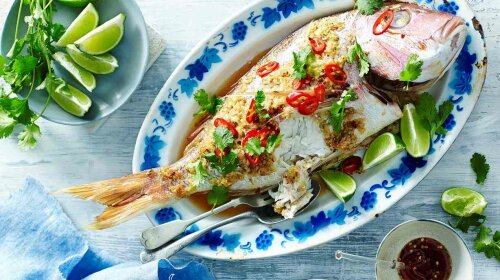 Thai-style steamed fish1