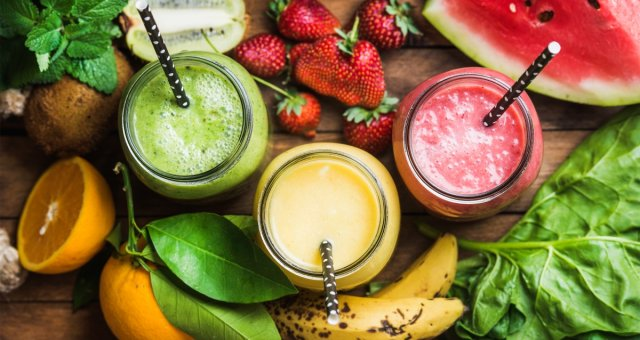 juice banana watermelon greens strawberry