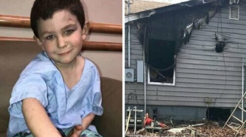 Маленький герой: 5-летний мальчик спас во время пожара сестру и собаку