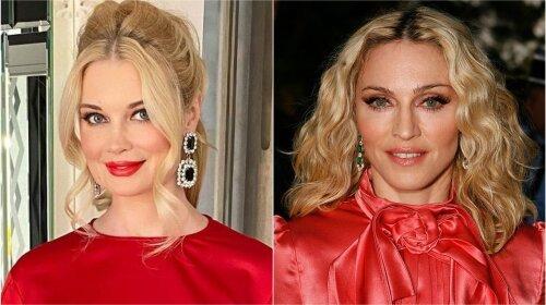Лидия Таран против эпатажной  Мадонны  – на ком из двух знаменитых блондинок красное платье выглядит лучше